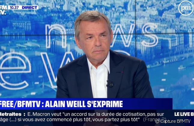 Alain Weill sur BFMTV le 27 août pour parler du conflit entre Altice et Free