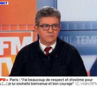 Jean-Luc Mélenchon agacé sur BFMTV