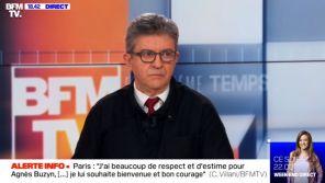 Jean-Luc Mélenchon tacle BFMTV, agacé d'être coupé par des images d'Agnès Buzyn
