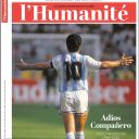 "Diego Maradona en Une de ""L'humanité""."