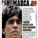 """Diego Maradona en Une de """"Marca"""""""