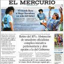 """Diego Maradona en Une du """"Mercurio""""."""