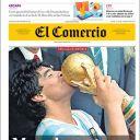 """Diego Maradona en Une du """"Comercio"""""""