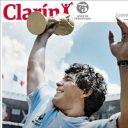 "Diego Maradona en Une du ""Clarin""."