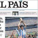 """Diego Maradona en Une de """"El Pais""""."""
