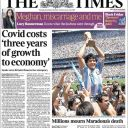 "Diego Maradona en Une du ""Times""."