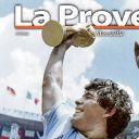 """Diego Maradona en Une de """"La Provence""""."""