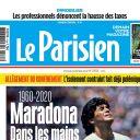 "Diego Maradona en Une du ""Parisien""."