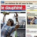 """Diego Maradona en Une du """"Dauphiné Libéré"""""""