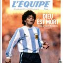 """Diego Maradona en Une de """"L'Equipe""""."""