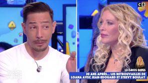 """""""Touche pas à mon poste"""" : Steevy ému aux larmes pour ses retrouvailles avec Loana"""