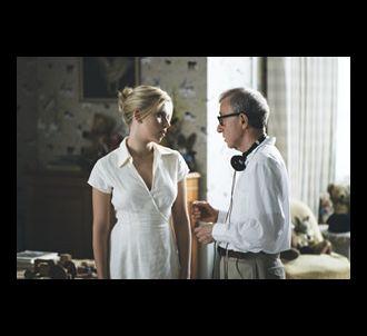 Scarlett Johansson et Woody Allen sur le tournage de...