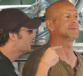 Bruce Willis sur le tournage de 'Live Free or die hard'