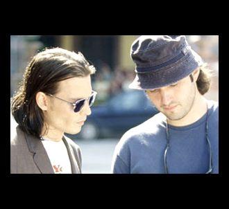 Johnny Depp et Robert Rodriguez sur le tournage de...