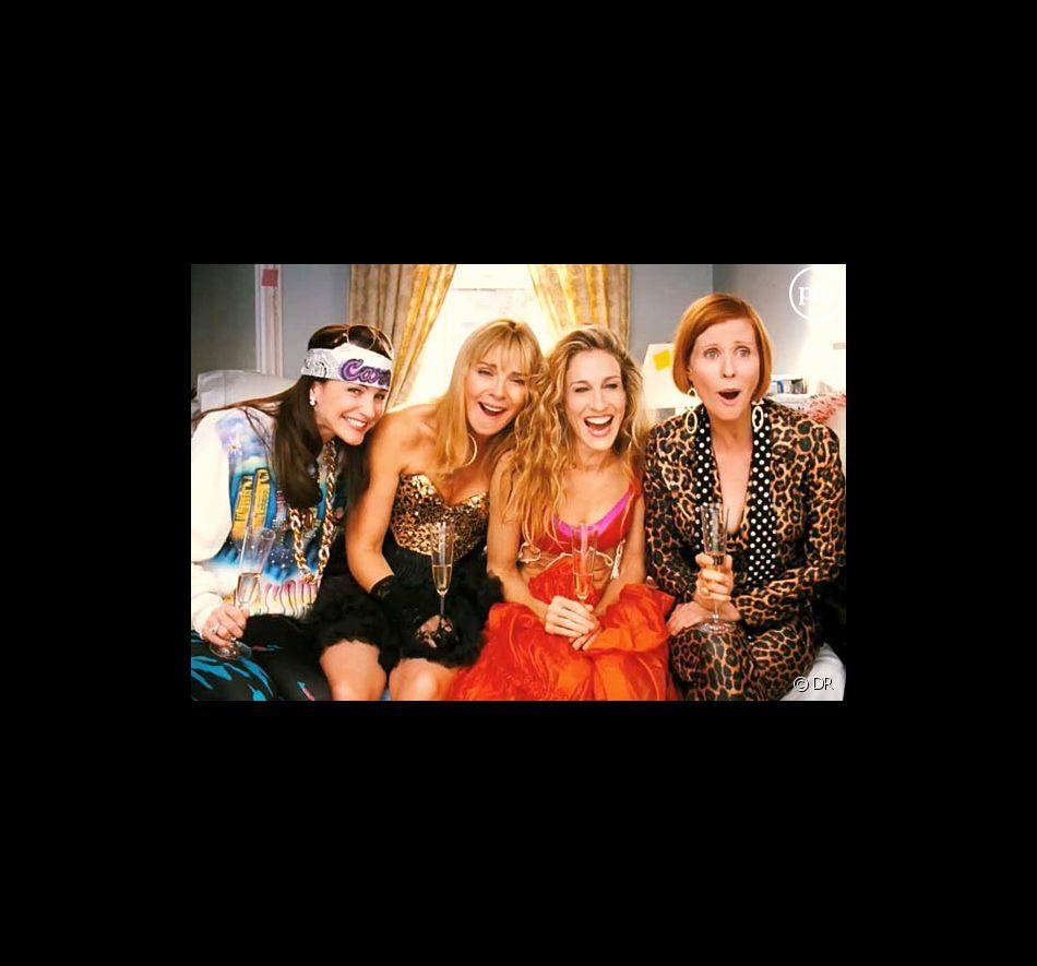 "Kristin Davis, Kim Cattrall, Sarah Jessica Parker et Cynthia Nixon dans le film ""Sex & the City"""