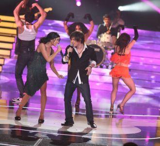 Quentin, avec Jenifer, lors de la finale de la Star Academy.
