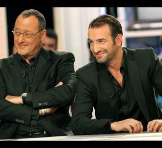 Jean Reno et Jean Dujardin sur le plateau de l'émission...