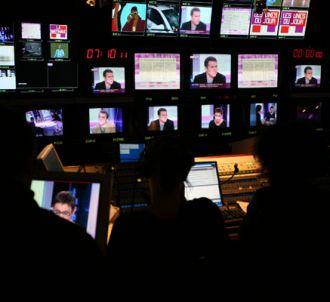 La régie de 'La Matinale' sur Canal Plus.