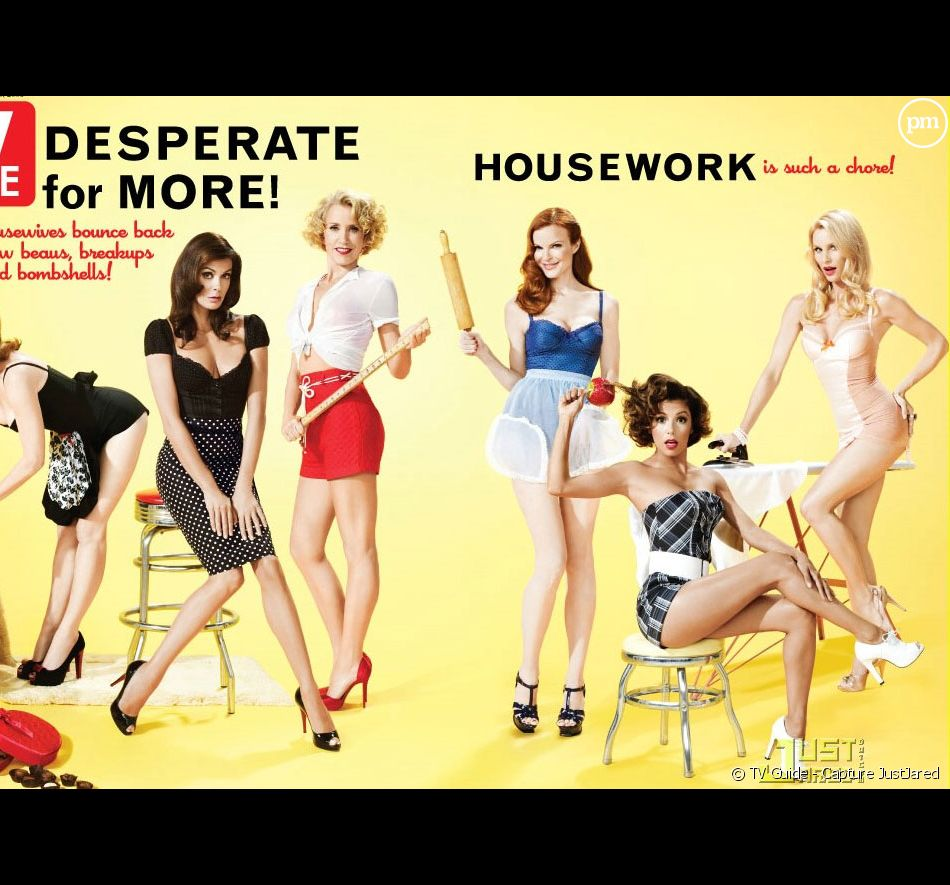 """Les Desperate Housewives en Une de """"TV Guide"""" (septembre 2008)"""