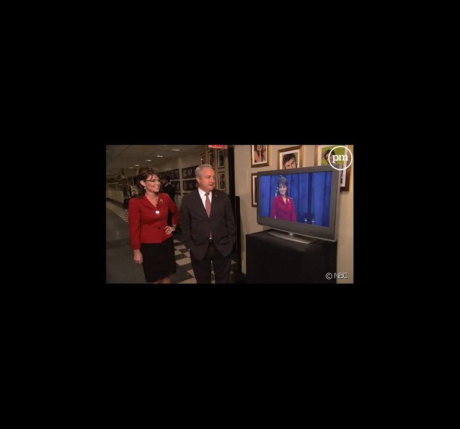 Sarah Palin et Lorne Michaels face à la parodie de Tina Fey