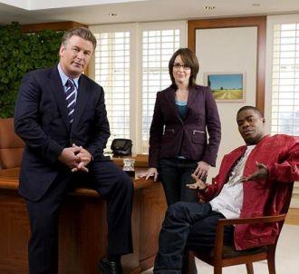 Alec Baldwin, Tina Fey et Tracy Morgan dans '30 Rock'