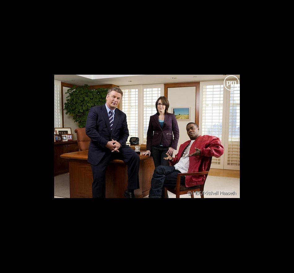 "Alec Baldwin, Tina Fey et Tracy Morgan dans ""30 Rock"""