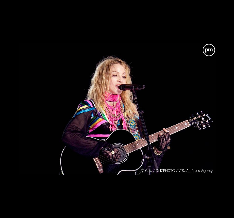 "Madonna lors du ""Stick & Sweet Tour"""