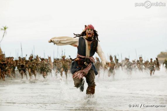 """Johnny Depp dans """"Pirates des Caraïbes, le secret du coffre maudit"""""""