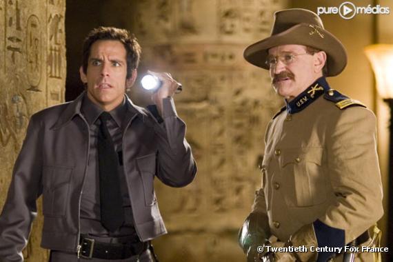 """Ben Stiller et Robin Williams dans """"La Nuit au musée""""."""