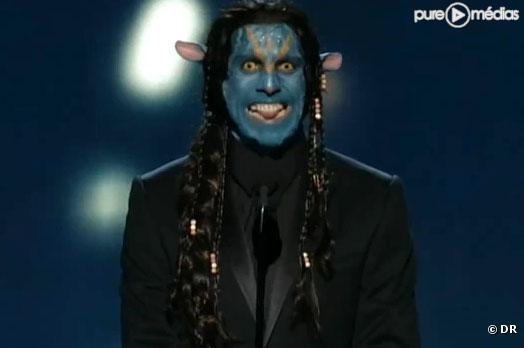 """Ben Stiller métamorphosé en """"Avatar"""" pendant la 82ème cérémonie des Oscars"""