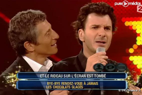 Nagui et Michael Youn, le 4 juin 2010 sur France 2.