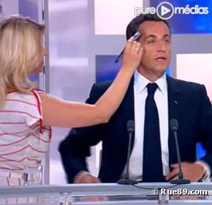 Nicolas Sarkozy, avant son interview sur France 3.