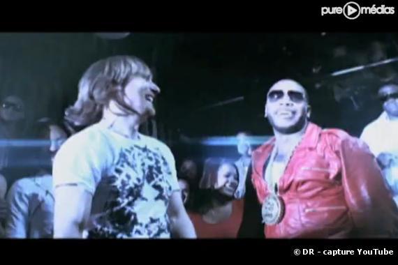 "David Guetta et Flo Rida dans le clip ""Club Can't Handle Me"""