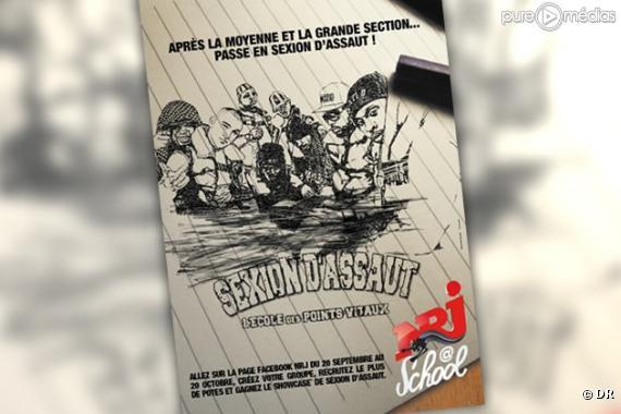 """La pub """"NRJ School"""" avec Sexion d'Assaut (septembre 2010)."""