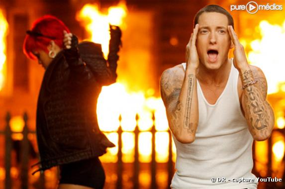 "Rihanna et Eminem dans le clip de ""Love the Way You Lie"""