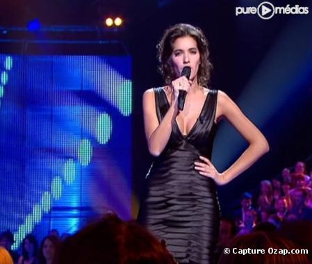 Laurie Cholewa, le 24 avril 2010 sur France 2