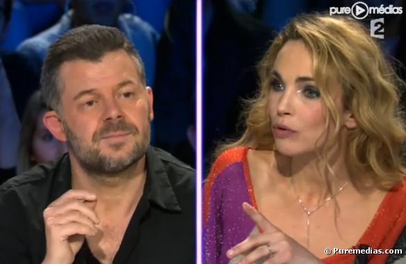 """Eric Naulleau et Claire Keim dans """"On n'est pas couché"""" le 8 janvier 2011"""