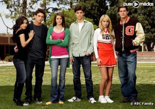 "Le cast de ""The Secret Life of the American Teenager"""