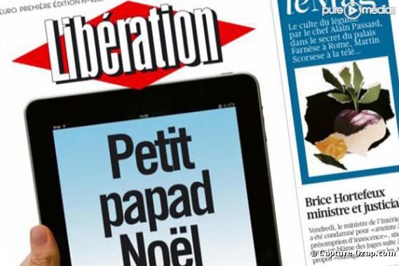 Libération, Une du 18 décembre.