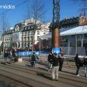 Vue générale. Place de Jaude, Clermont-Ferrand.