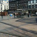 Une heure après le départ des manifestants. Place de Jaude, Clermont-Ferrand.