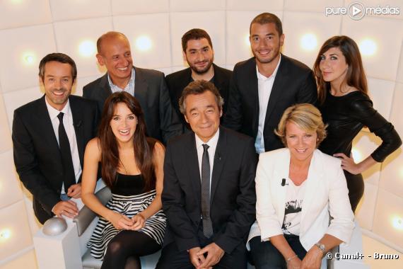 """L'équipe du """"Grand journal"""" 2010/2011."""