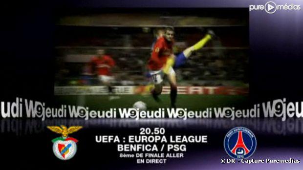 Le match PSG/Benfica diffusé sur W9