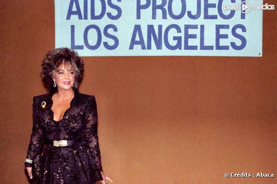 Elizabeth Taylor en 1985 pour le projet