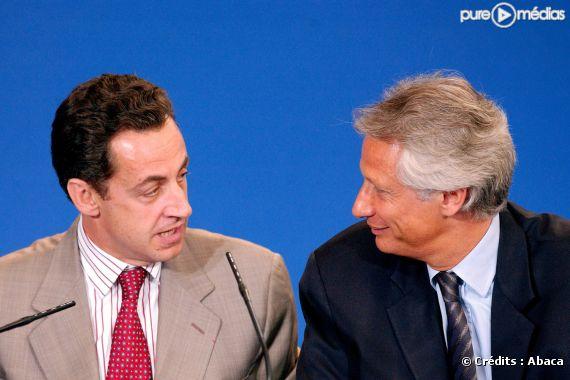 Nicolas Sarkozy et Dominique de Villepin