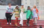 """Découvrez les images du tournage de """"Glee"""" à Times Square à New York !"""