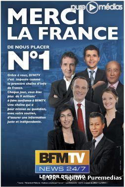 """Merci la France !"", nouvelle campagne de BFM TV (avril 2011)"
