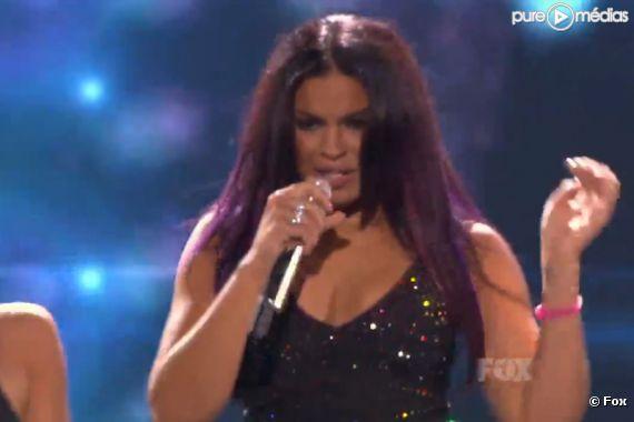 Jordin Sparks sur le plateau d'American Idol