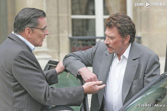 Johnny Hallyday et Jean-Claude Camus, en 2005.