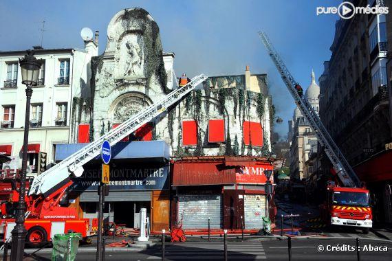 Incendie à l'Elysée Montmartre, le 22 mars 2011
